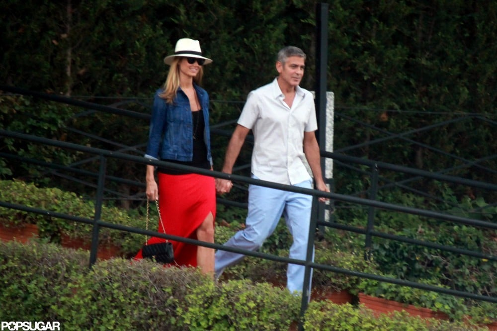 George Clooney and Stacy Keibler left George's Lake Como home in June.