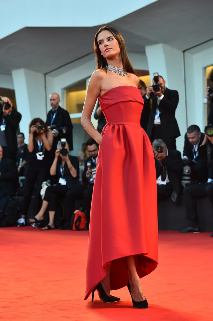 Alessandra Ambrosio took our breath away on the red carpet of the Venice International Film Festival.