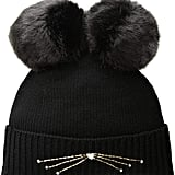 Kate Spade New York Women's Embellished Cat Beanie Hat