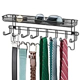 mDesign Closet Wall Mount Accessory Storage Organizer Rack