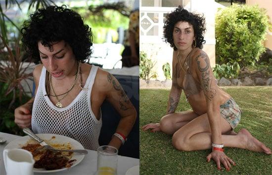 Amy Winehouse Bikini Photos, Eating Photos