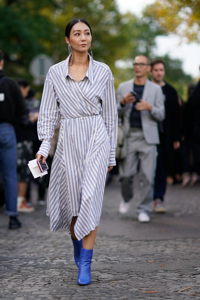 Make a Shirtdress Feel Fresh With Ankle Booties