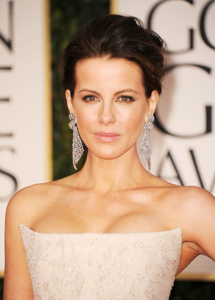 Kate Beckinsale in Roberto Cavalli at the Golden Globes.
