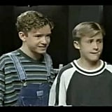Justin Timberlake and Ryan Gosling as Mouseketeers