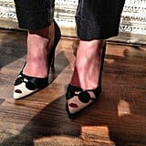 We haven't ever seen a pair of pumps with this much attitude, courtesy of Alice + Olivia.