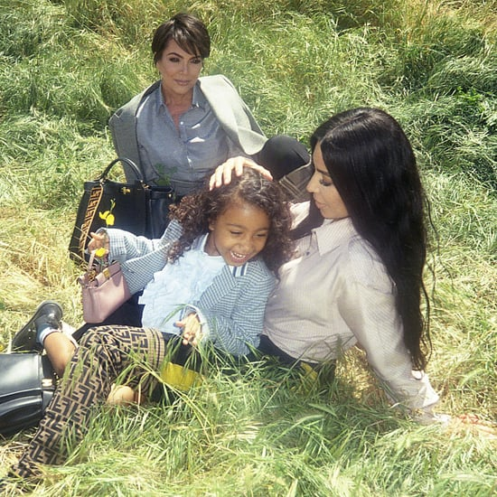 Kim Kardashian and North West Fendi Peekaboo Campaign 2018