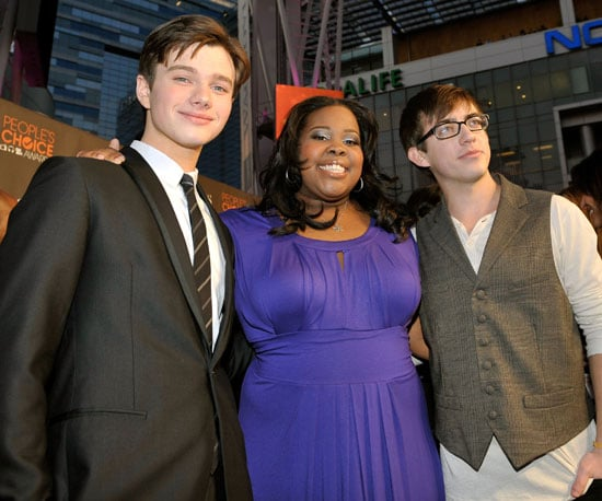 Slide Photo of Glee Stars Chris Colfer, Amber Riley and Kevin McHale at People's Choice Awards