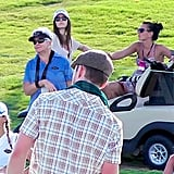 Jessica Biel watched Justin Timberlake's charitable golf game.