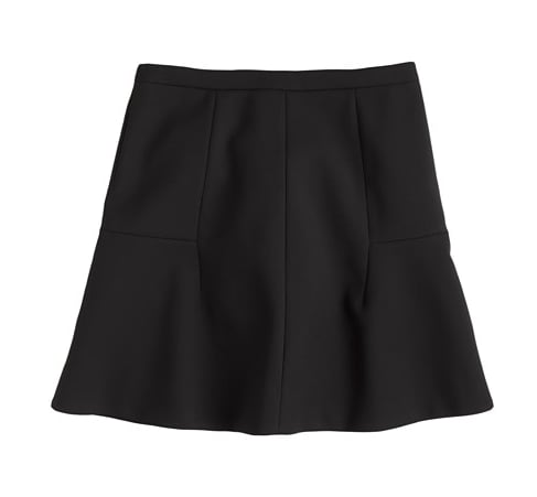 Think of this fluted skirt ($98) as your most flattering skirt — with a silhouette and a finish you can wear everyday.