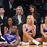 Julianne Hough, Nina Dobrev, and Selena Gomez Have a Lakers Girls' Night