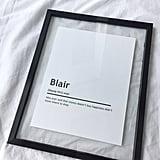 Blair Waldorf Character Print