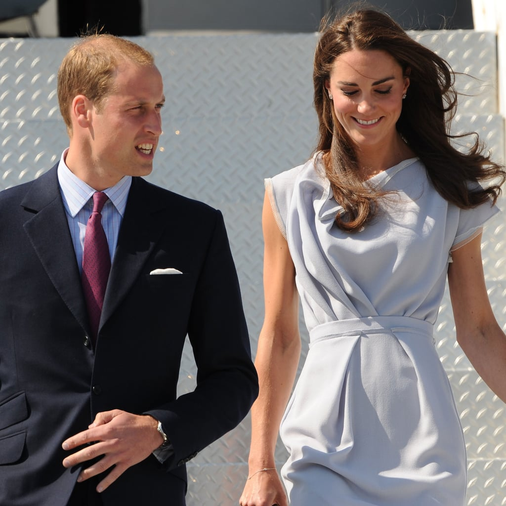 Prince William and Kate Middleton Land at LAX Pictures