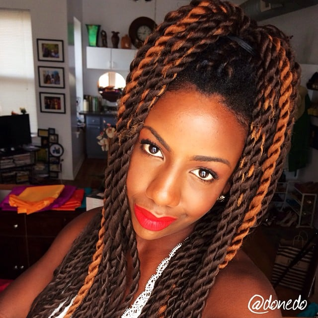 Stupendous Black Braided Hairstyles With Extensions Popsugar Beauty Short Hairstyles For Black Women Fulllsitofus