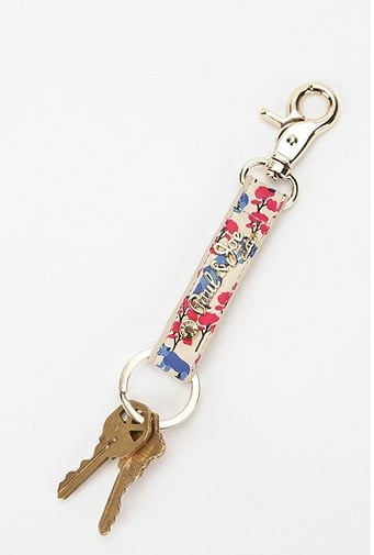 With a Spring-friendly floral print, this blossoming Paul & Joe key chain ($60) adds a dash of flair to the classic key loop.
