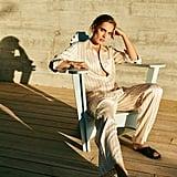 Asceno Sand Pinstripe Pyjamas
