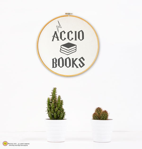 Accio Books Embroidery Hoop ($16)