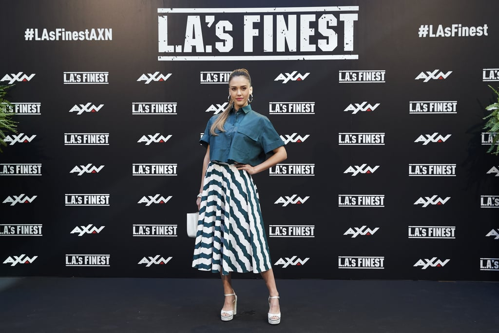 Jessica Alba Wore Superlong Hair For LA's Finest Europe Tour