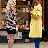 AnnaSophia Robb and Freema Agyeman were on set together shooting The Carrie Diaries.