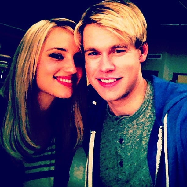 Dianna Agron And Chord Overstreet Hung Out On The Set Of Glee