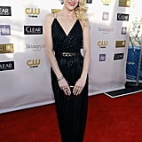 Jaime King wore a gorgeous black Jason Wu dress, complete with metallic dots along the bodice.