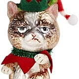 Holiday Lane Glass Grumpy Cat Ornament, Created for Macy's