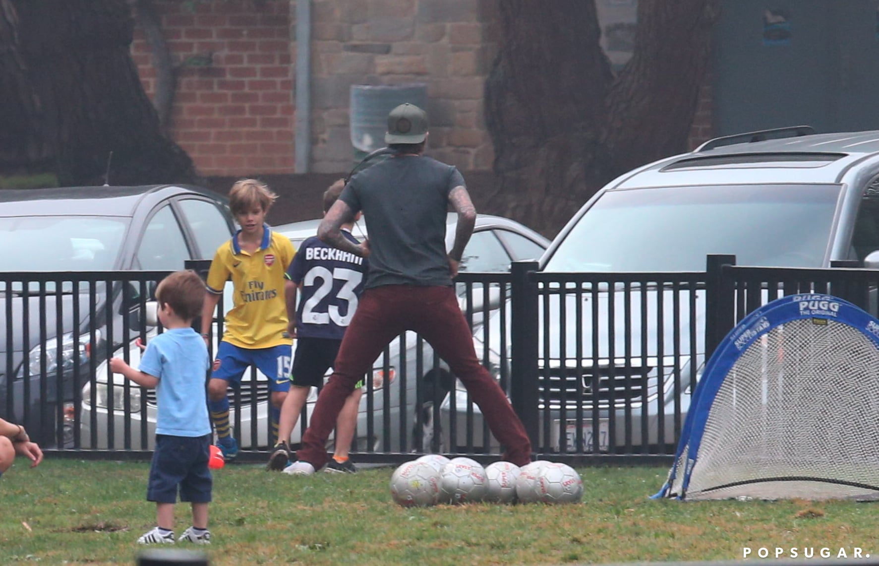 The Beckham boys played soccer together in LA.