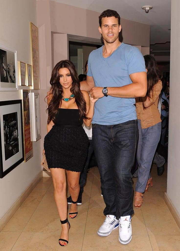 Kris Humphries sweetly held hands with Kim Kardashian.