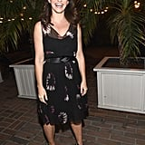Kristin Davis lit up with a smile during the Vanity Fair and Barneys New York event for OXFAM at the Chateau Marmont.