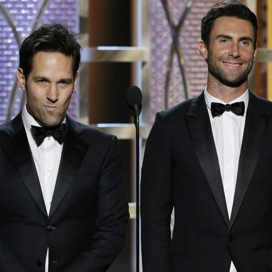 Paul Rudd and Adam Levine at the Golden Globes 2015
