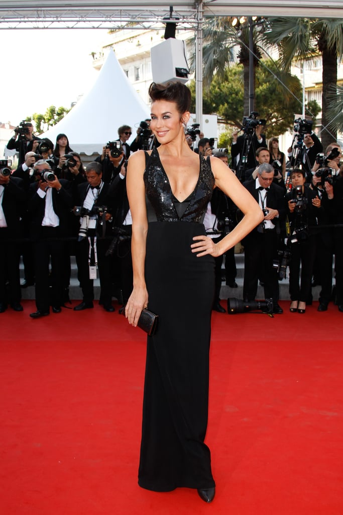 Ms Gale opted for local designer Alex Perry for her Cannes red carpet debut.