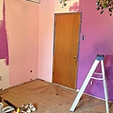 He then painted the walls.