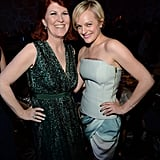Elisabeth Moss met up with Kate Flannery inside the event.