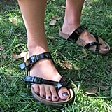 They've returned! We were excited to see some old-school Birkenstocks and are sensing a major comeback-in-the-making.