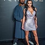 Kanye West and Kim Kardashian at NYFW