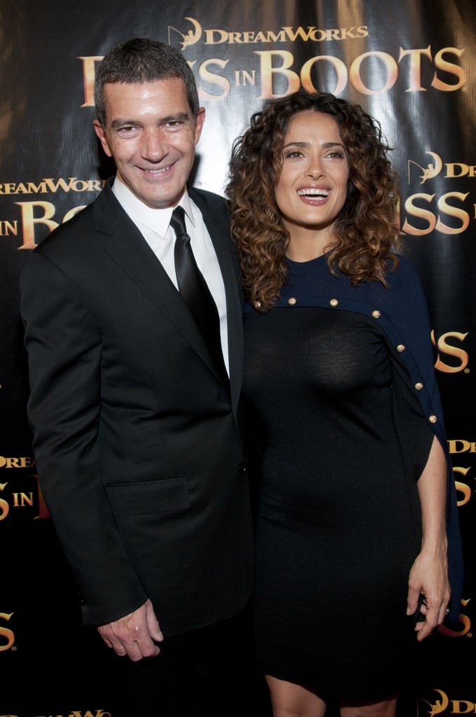 Salma Hayek and Antonio Banderas at the SF premiere of Puss in Boots.