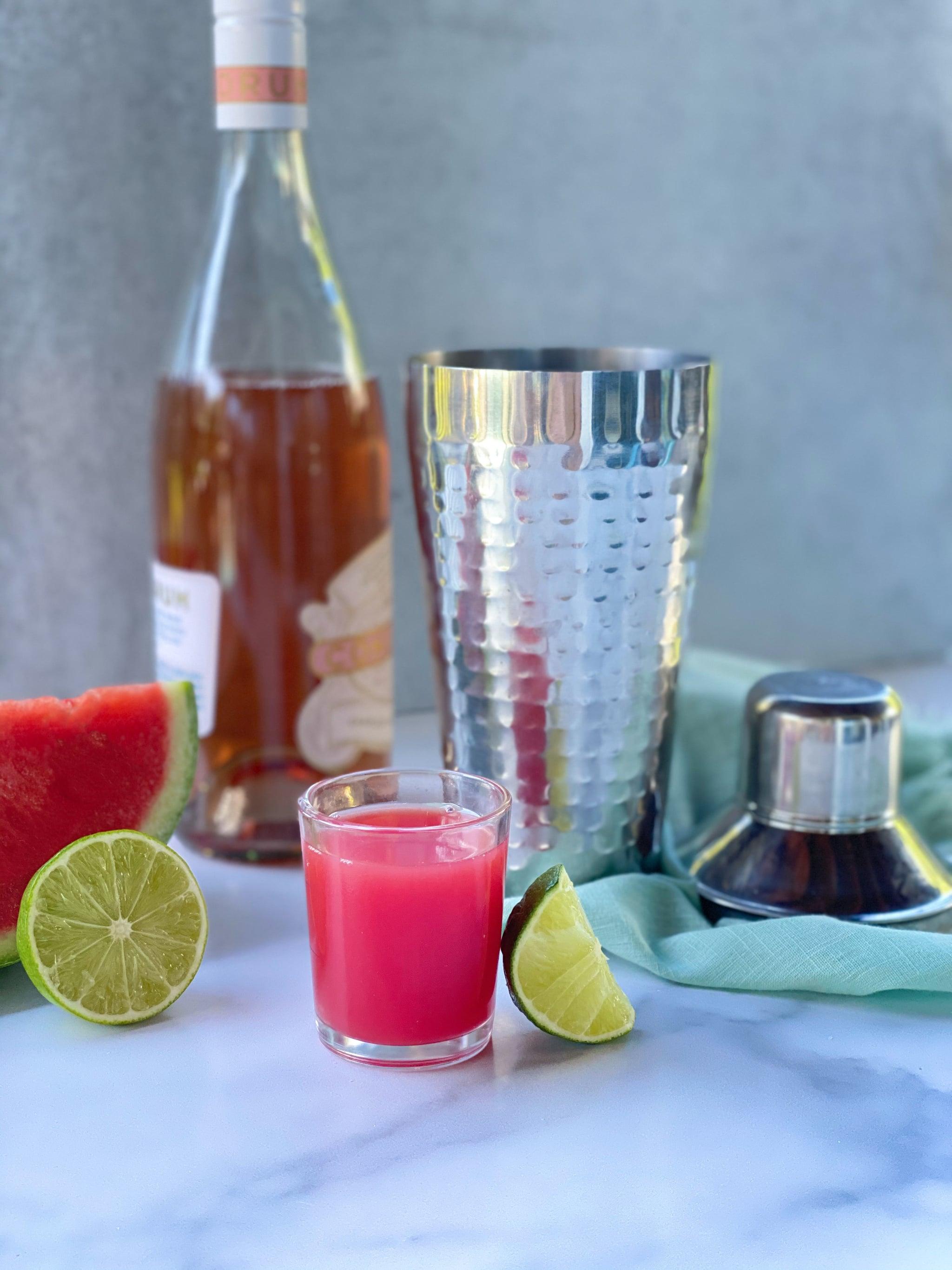 Watermelon Rosé Margaritas In The Making