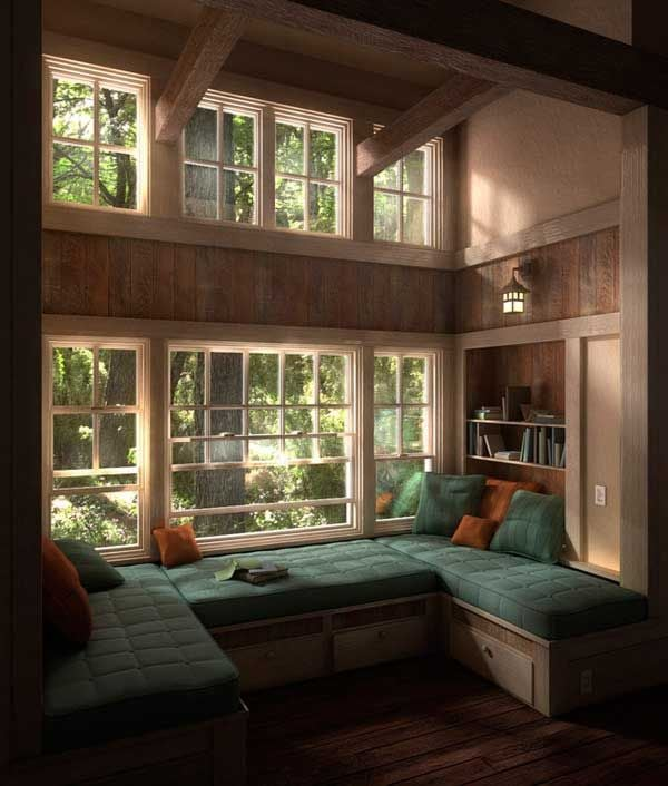 A cozy reading nook is a must for any book-lover.