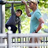 Tom Brady and His Boys Take Over a Boston Playground With Their Cuteness