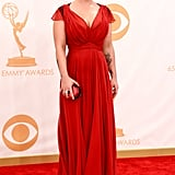 Kelly Osbourne on the red carpet at the 2013 Emmy Awards.