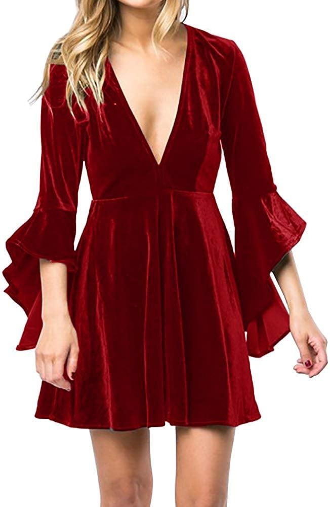 Caitefaso Velvet Party Dress
