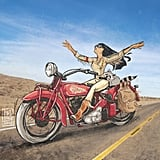 Pocahontas on a Motorcycle