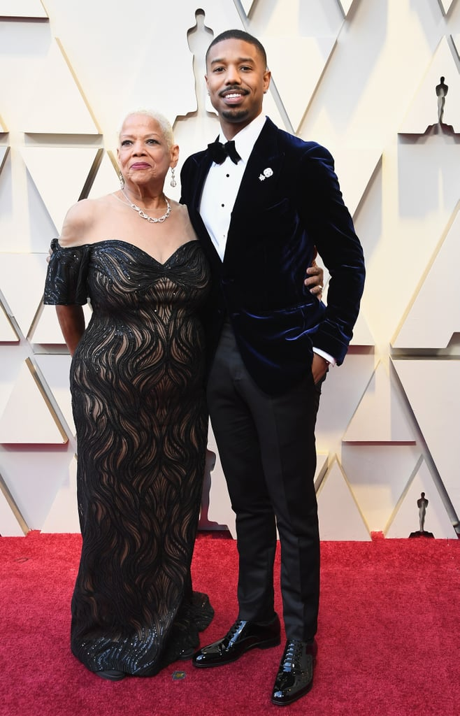 Michael B. Jordan With His Mom at the 2019 Oscars