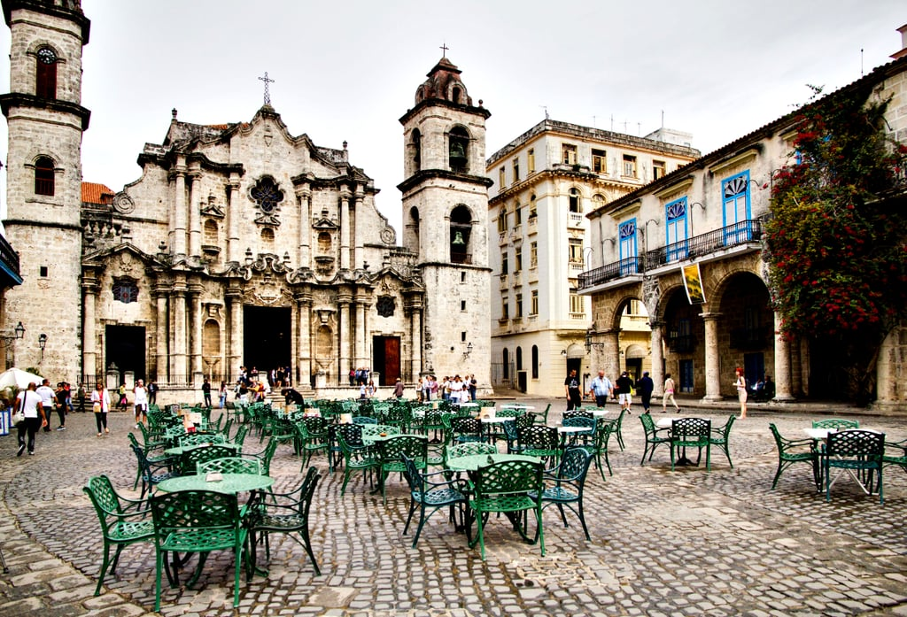 Sit Outside the Cathedral in Old Havana, Cuba.