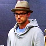 Justin Timberlake was in Italy with wife Jessica Biel.