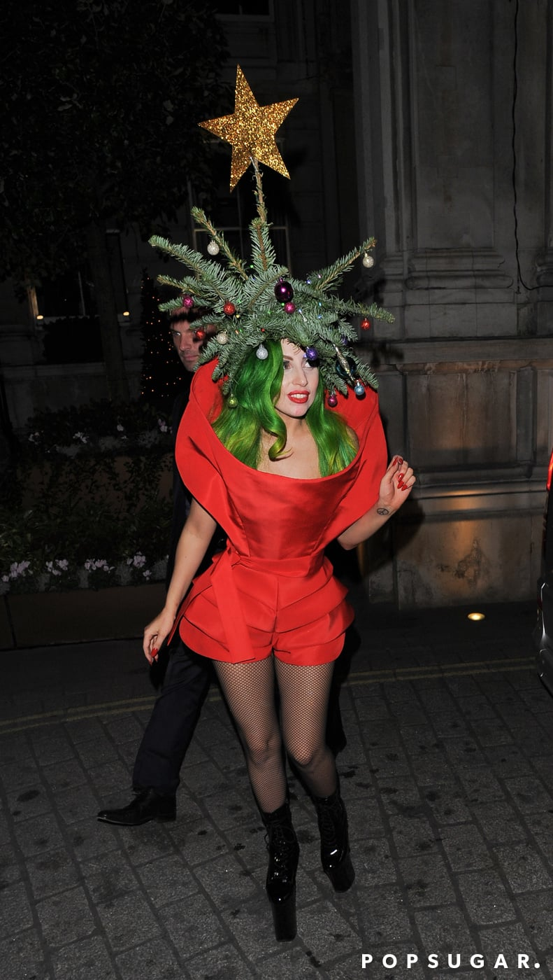 Lady Gaga already rocked under the Christmas tree this year.