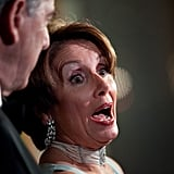 House Minority Leader Nancy Pelosi made a face at the Kennedy Center.