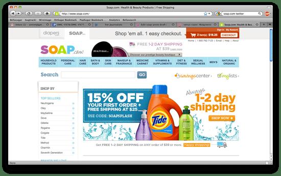 Soap.Com Shopping Review