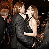Brad Pitt held Angelina Jolie close at the SAGs.