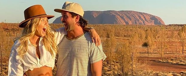 Elyse Knowles Pregnancy Announcement in Uluru Australia