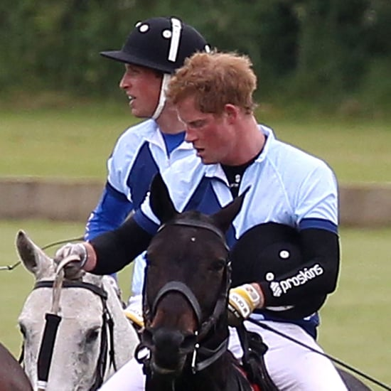 Princes William and Harry Polo Match Pictures